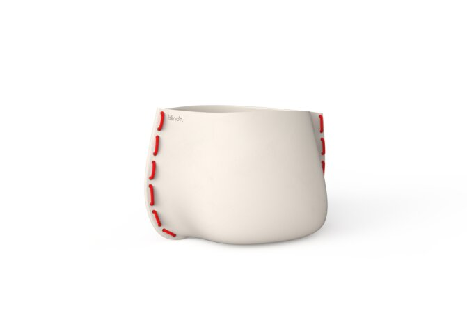 Stitch 50 Planter - Bone / Red by Blinde Design