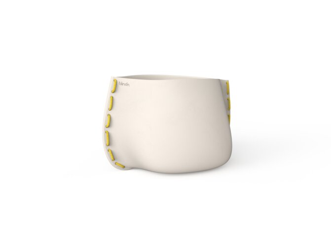Stitch 50 Planter - Bone / Yellow by Blinde Design