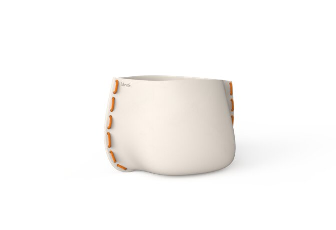 Stitch 50 Planter - Bone / Orange by Blinde Design