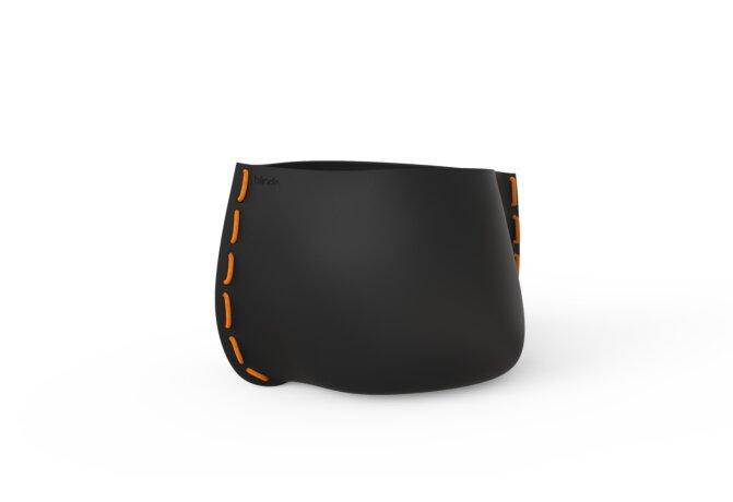 Stitch 75 Planter - Graphite / Orange by Blinde Design