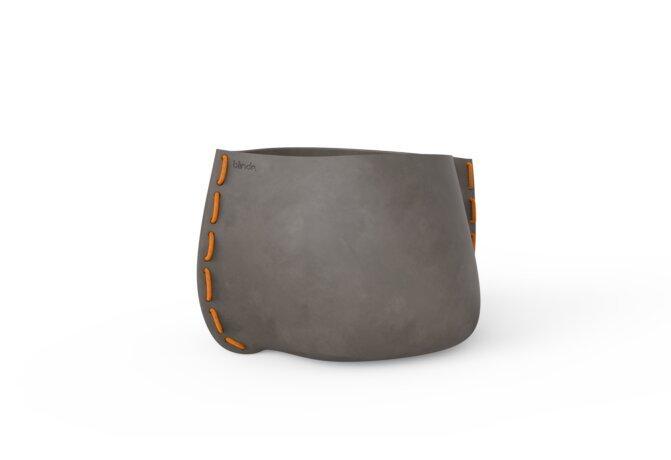 Stitch 75 Planter - Natural / Orange by Blinde Design