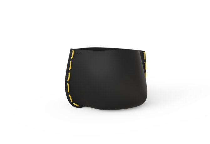 Stitch 50 Planter - Graphite / Yellow by Blinde Design